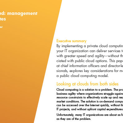 HP Whitepaper Private Cloud