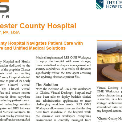 RES Case Study Chester County Hospital