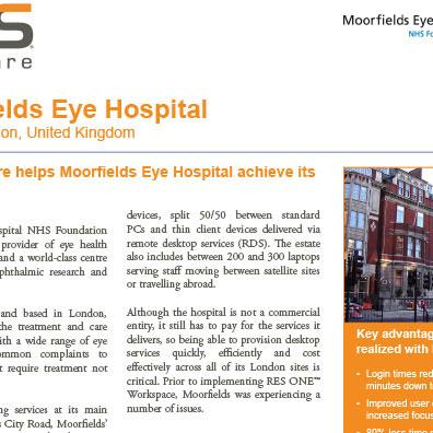 RES Case Study Moorfields